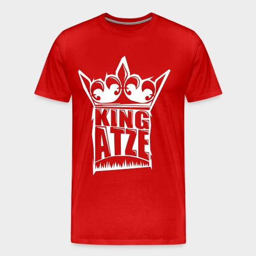 KING ATZE RED SHIRT  LOGO WHITE - Männer Premium T-Shirt