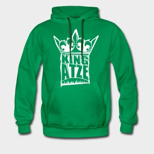 KING ATZE GREEN HOODY  LOGO WHITE - Männer Premium Hoodie