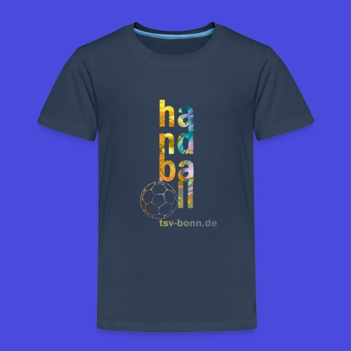 TSV Kinder T-Shirt Handball vertikal navy - Kinder Premium T-Shirt