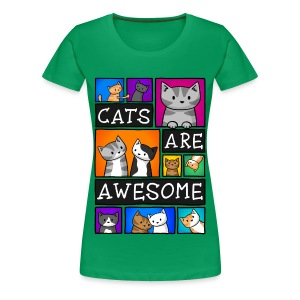 Cats Are Awesome - Women's - Women's Premium T-Shirt