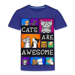 Cats Are Awesome - Kids - Kids' Premium T-Shirt