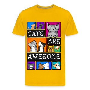 Cats Are Awesome - Mens - Men's Premium T-Shirt