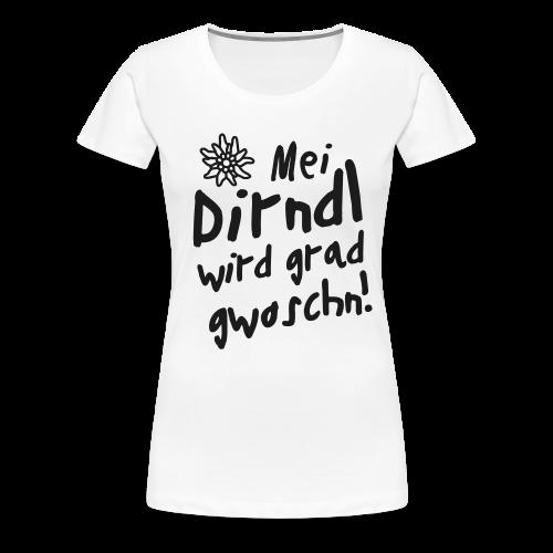Mei Dirndl...Schwarz Glitzer - Frauen Premium T-Shirt