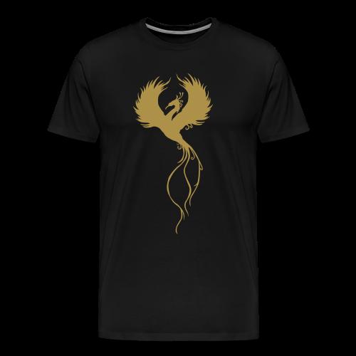 Phoenix Glitter Herre premium T-shirt - Herre premium T-shirt