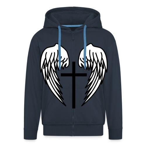 Angel Wings - Männer Premium Kapuzenjacke