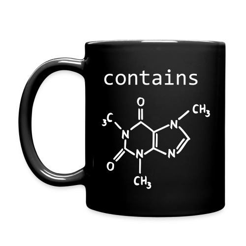 Contains Caffeine black Mug - Tasse einfarbig
