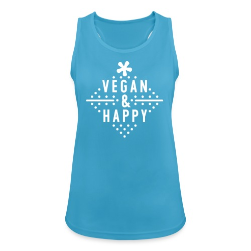 Vegan & Happy  - Frauen Tank Top atmungsaktiv