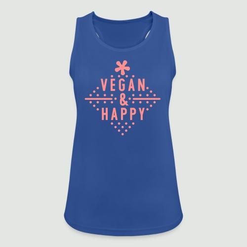 Vegan & happy  - Frauen Tank Top atmungsaktiv