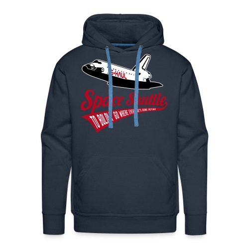 Space Shuttle - To Boldly Go Where Everyone's Gone Before (velvet print) - Men's Premium Hoodie