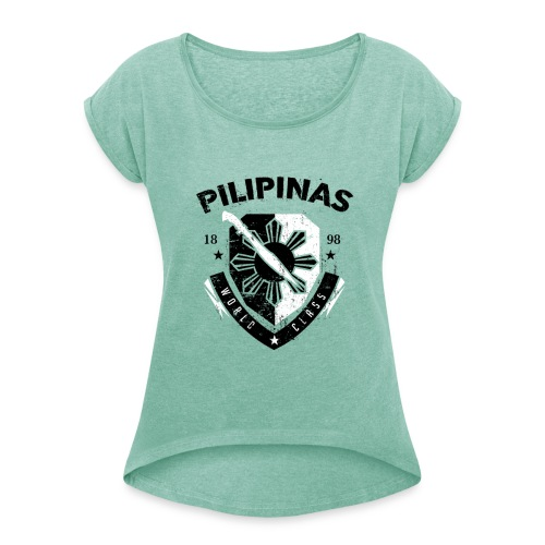 PHL 0005 Ladies Rolled Up Sleeves - Women's T-Shirt with rolled up sleeves