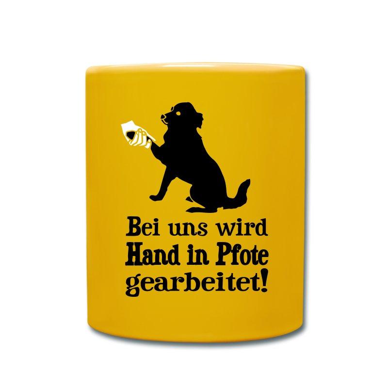 Tassen Hund : Hund hand in pfote tasse spreadshirt