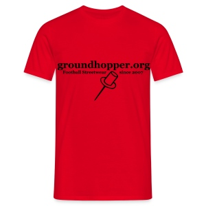 Shirt / groundhopper.org pin - Männer T-Shirt