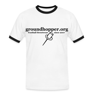 Shirt / groundhopper.org pin - Männer Kontrast-T-Shirt