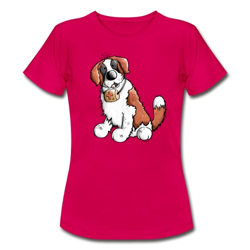 Saint-Bernard Fun - T-shirt Femme