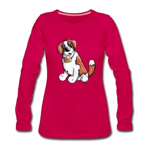 Saint-Bernard Fun - T-shirt manches longues Premium Femme