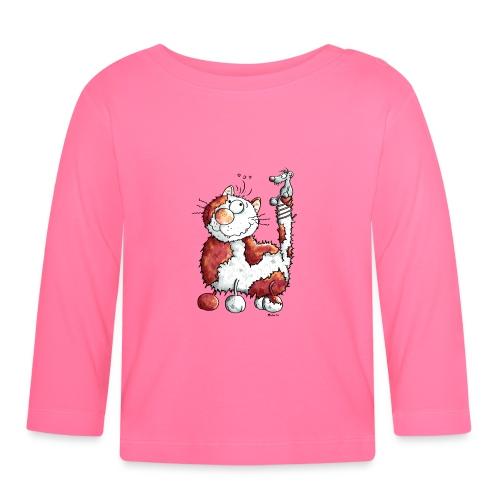 Chat Souris Fun - T-shirt manches longues Bébé