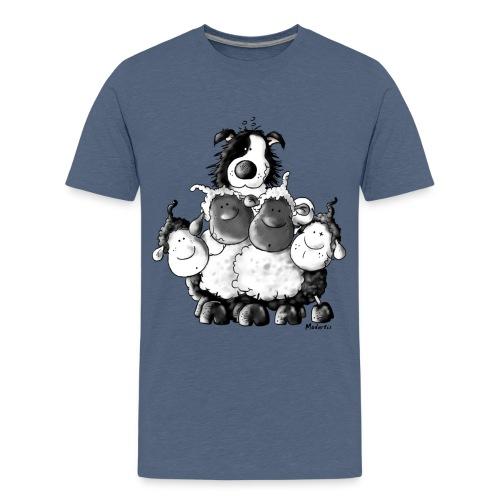 Moutons et chien Fun - T-shirt Premium Ado