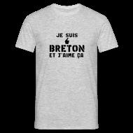 Tee shirts ~ Tee shirt Homme ~ je suis Breton et j'aime ça