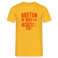 Tee shirts ~ Tee shirt Homme ~ Breton en mode vacances
