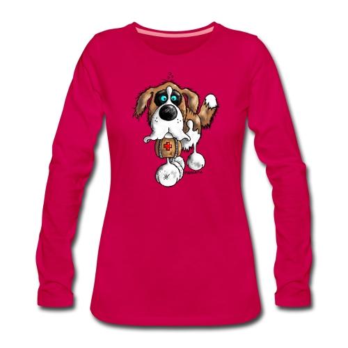 Saint-Bernard Barry Fun - T-shirt manches longues Premium Femme