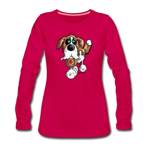 Saint-Bernard Barry Fun - T-shirt manches longues Premium Femme