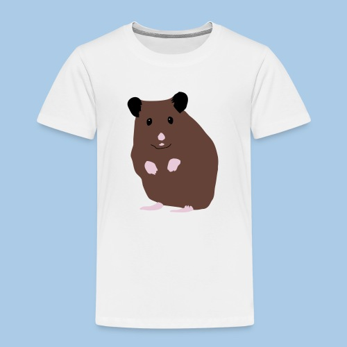 Lasten t-paita lk suklaa syyrianhamsterilla - Lasten premium t-paita
