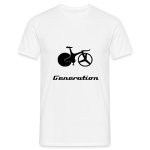 white 1990s track bike t-shirt - Men's T-Shirt