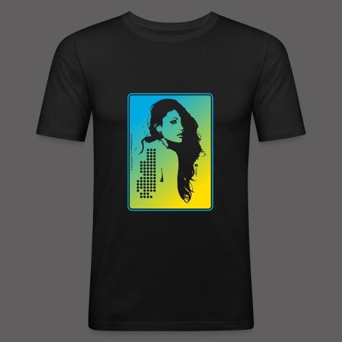 Dark Disco Laser - Men's Slim Fit T-Shirt