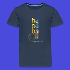 TSV Teenager T-Shirt Handball vertikal navy - Teenager Premium T-Shirt