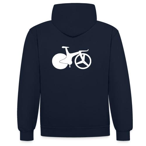 track bike hoodie 1990 style - Contrast Colour Hoodie