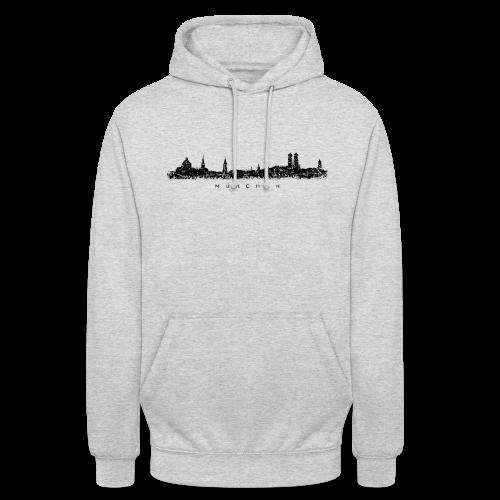 München Skyline (Vintage/Schwarz) Hoodie - Unisex Hoodie