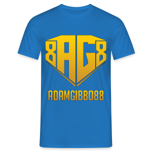Gold Logo / Royal Blue Tee - Men's T-Shirt
