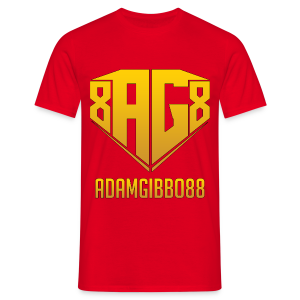 Gold Logo / Red Tee - Men's T-Shirt