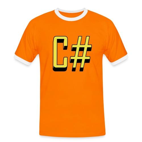 Programming Languages: C# / C sharp (slick print) - Men's Ringer Shirt