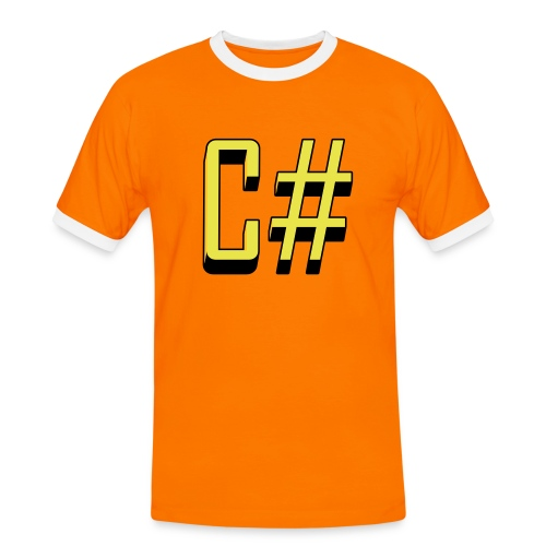 Programming Languages: C# / C sharp (slick print) - Men's Ringer Shirt