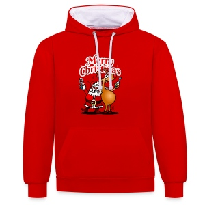 Merry Christmas Santa - Contrast Colour Hoodie