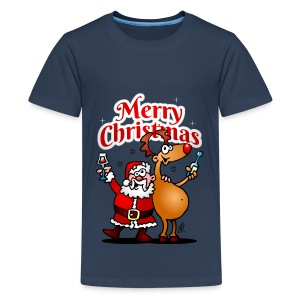 Merry Christmas Santa - Teenage Premium T-Shirt
