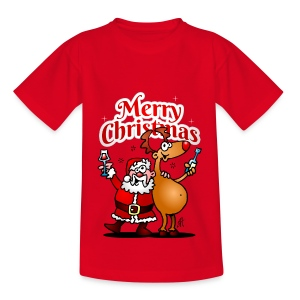 Merry Christmas Santa - Teenage T-shirt
