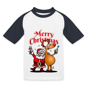 Merry Christmas Santa - Kids' Baseball T-Shirt