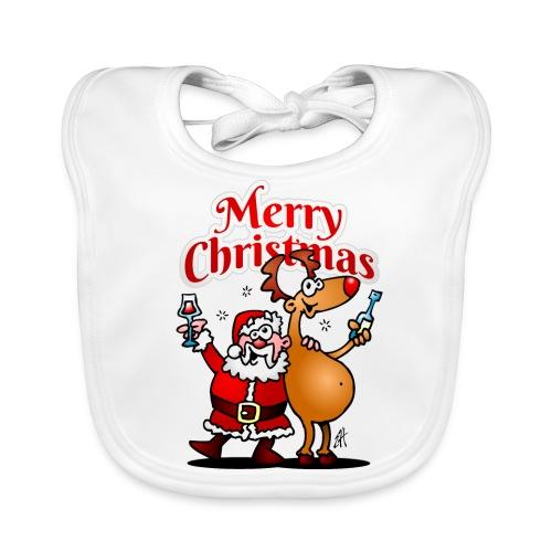 Merry Christmas Santa - Baby Organic Bib