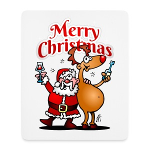 Merry Christmas Santa - Mouse Pad (vertical)