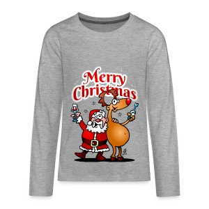 Merry Christmas Santa - Teenagers' Premium Longsleeve Shirt