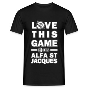 T-SHIRT Love This Game HOMME Noir - T-shirt Homme