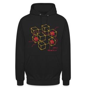 CM-1 Logo unisex hoodie black/red - Unisex Hoodie