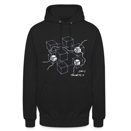 CM-1 Logo unisex hoodie black/white - Unisex Hoodie