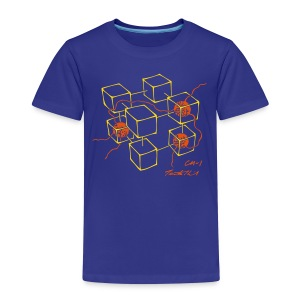 CM-1 Logo kid's blue/orange - Kids' Premium T-Shirt