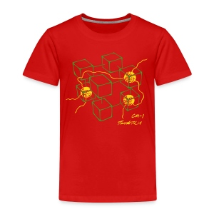 CM-1 Logo kid's red/green-yellow - Kids' Premium T-Shirt