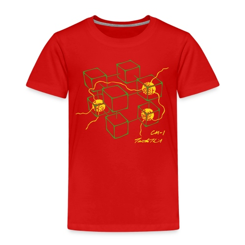 CM-1 Logo kid's red/green-yellow - Kids' Premium T-Shirt