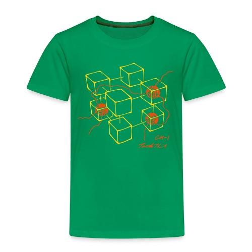 CM-1 Logo kid's green/orange - Kids' Premium T-Shirt