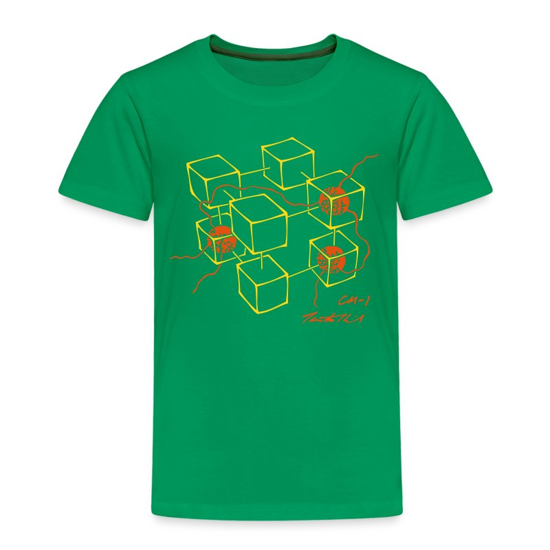 CM-1 Logo kid's green/orange - Kids' Premium T-Shirt